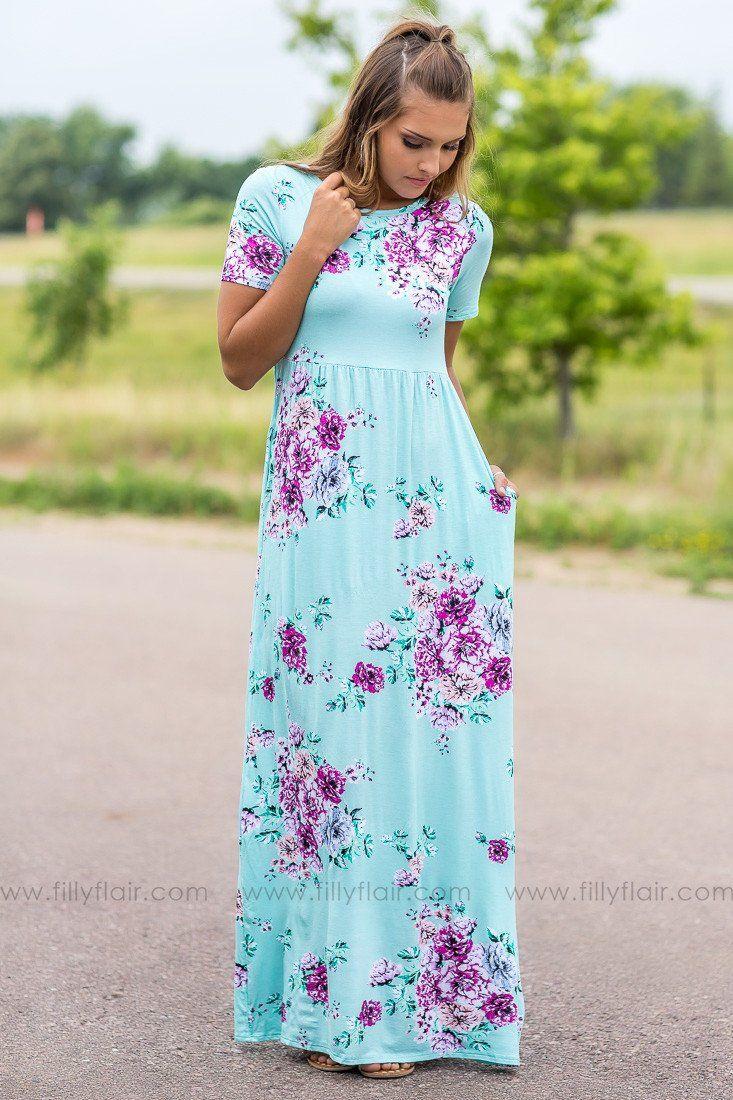 Mint maxi dresses