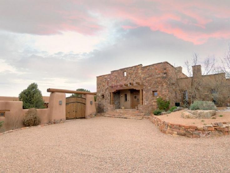 Beautiful santa fe style homes courtyard entry for Santa fe style homes