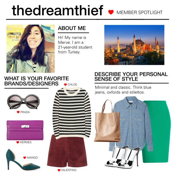Member Spotlight: Thedreamthief by polyvore on Polyvore featuring Chloé, Étoile Isabel Marant, Roland Mouret, Valentino, Giuseppe Zanotti, MANGO, Hermès, Prada and MemberSpotlight