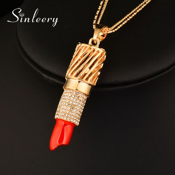 3824 best necklaces pendants images on pinterest drop necklace sinleery women sexy red lipstick pendant fashion multi layer long necklace my221 yellow gold color free mozeypictures Choice Image