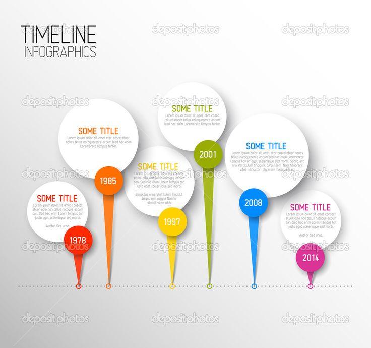 horizontal timeline template on google   modelo de relatório de linha horizontal escura do tempo infográfico ...