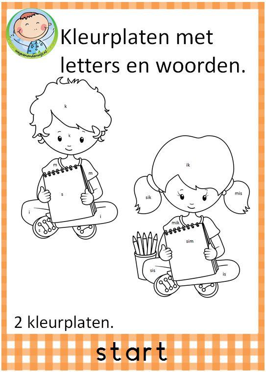 Spellepakket start. Mooi pakket met 12 verschillende spelletjes. Leuk te gebruiken in groep 3 bij VLL kim versie. Twee leuke kleurplaten met woorden en letters.