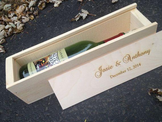 Gift Box Wedding Invitations: Wine Bottle In Box Wedding Invitations
