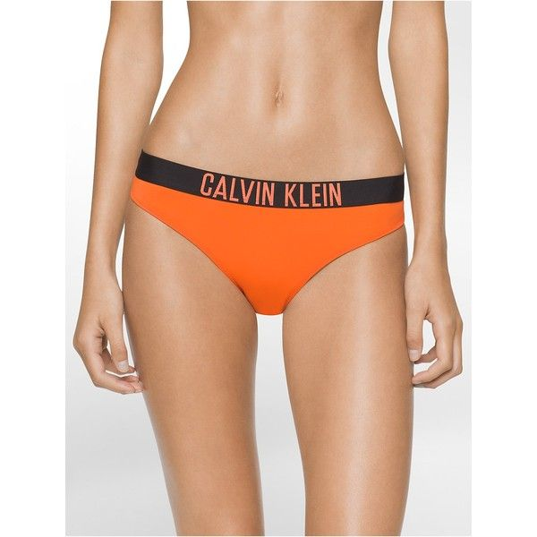 Calvin Klein Women's Logo Bikini Bottom (27.025 CRC) ❤ liked on Polyvore featuring swimwear, bikinis, bikini bottoms, samba orange, bikini bottom swimwear, calvin klein bikini, bottom bikini, calvin klein swimwear and calvin klein