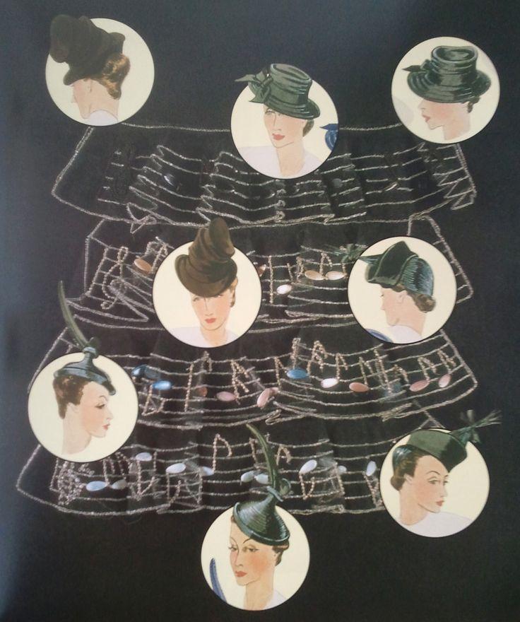 """Cappelli di Elsa Schiaparelli / Hats by Elsa Schiaparelli  Da/From Il Secolo degli stilisti"""" by Charlotte Seeling -2000"""