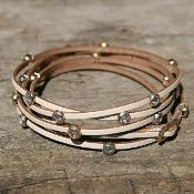 Leather Wrap Gate Bracelet