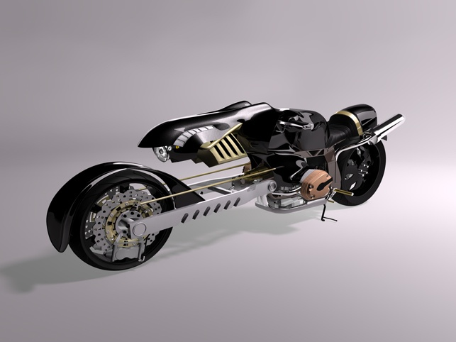 Cgtalk Hcr 46 Movie Tribute Fenrir Motorcycle