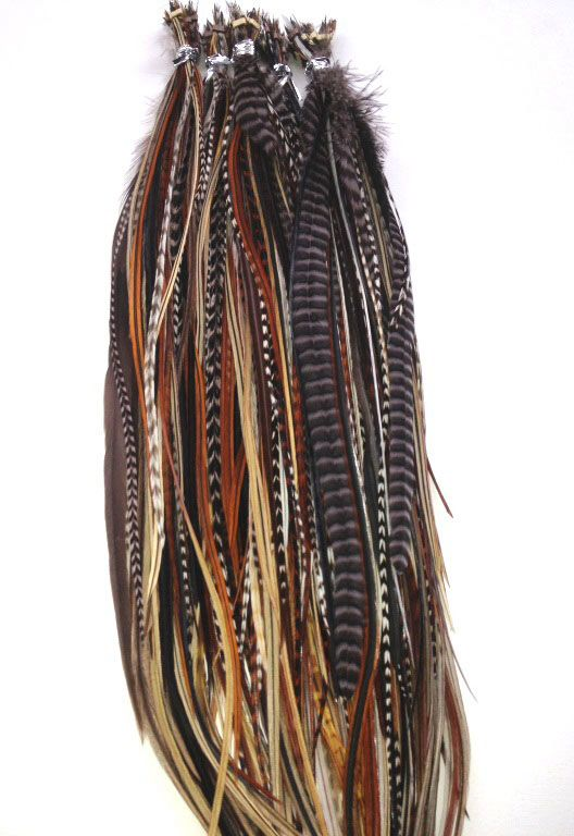 100 best hair styling images on pinterest hair style remy hair natural coloured long feathers for hair diy kits include 10 feathers tools and beads pmusecretfo Images