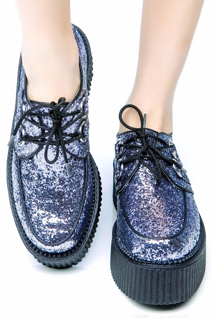 Cool.  I should do this to my old creepers.  glitter creeper shoes platform