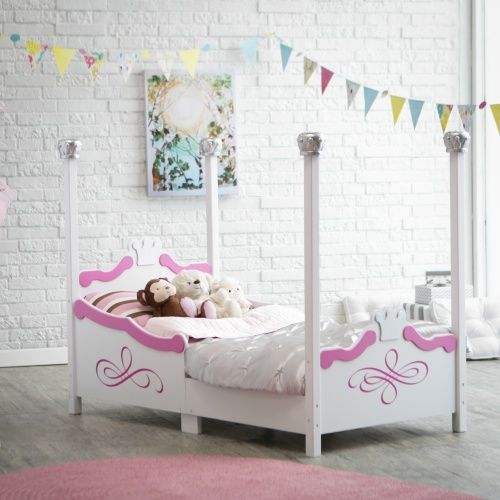 Kidkraft Princess Toddler Bed - Silver - Toddler Beds at Hayneedle