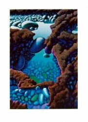 3 Rock Pools and Lava Flow screenprint Michael Smither