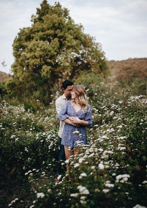 Lovers in the flowers...