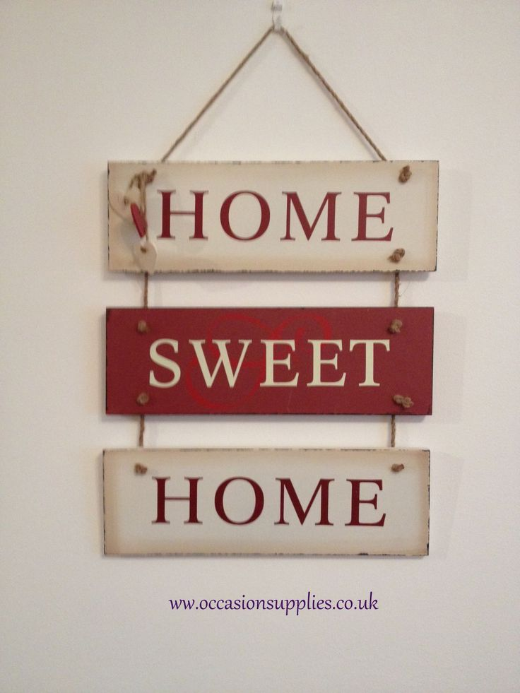 shabby chic style home sweet home hanging plaque | home sweet home, Wohnzimmer dekoo