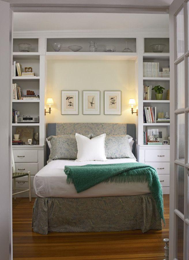 Almacenamiento vertical en el dormitorio