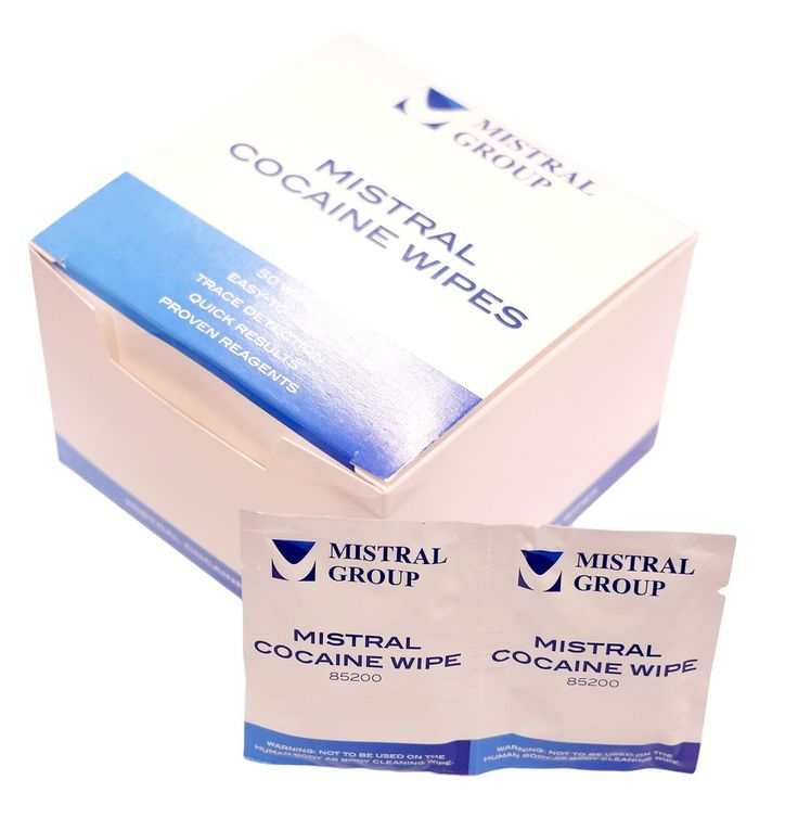 Kit contains 50 individual wipes. Cocaine swipes are a quick and easy way to quickly test for cocaine residue. Simply wipe the pad on the suspected surface. If