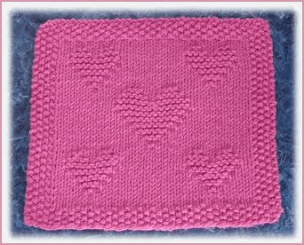 Valentine Free Knit Dishcloth Pattern