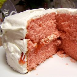 Strawberry Cake from Scratch by GothicGirl, Allrecipes.com. Photo by   ShawnaRae : Frost with cream cheese, vanilla, or for a special treat a chocolate glaze. #Cakes #Strawberry_Cake #Allrecipes #GothicGirl #ShawnaRae