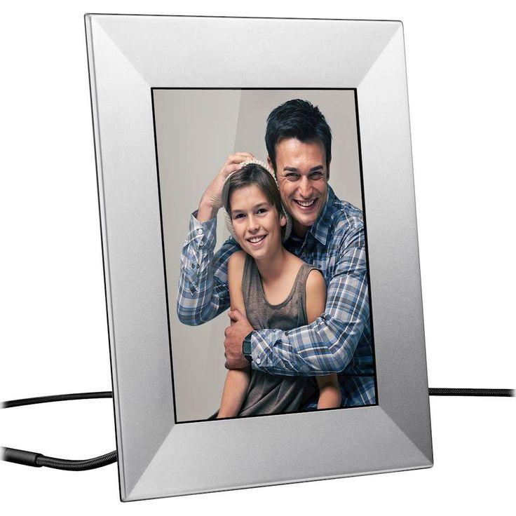 "Nixplay - Iris 8"" LCD Wi-Fi Digital Photo Frame - Silver, W08E-SILVER"