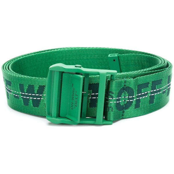 Off-White woven logo belt ($205) ❤ liked on Polyvore featuring accessories, belts, green, logo belts, woven belt, off white belt, green belt and braided belt #BraidedBelt