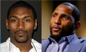 Metta World Peace (formerly Ron Artest) and Ray Lewis