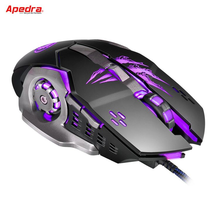 Cheap price US $9.14  APEDRA Macro Wired Gaming Mouse Gamer 6 Buttons Mechanical Design USB Optical Computer Mouse Game Mice for PC Desktops Laptop A8  #APEDRA #Macro #Wired #Gaming #Mouse #Gamer #Buttons #Mechanical #Design #Optical #Computer #Game #Mice #Desktops #Laptop  #BestBuy