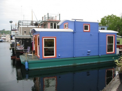 My husband is a railroad man who would love this caboose houseboat