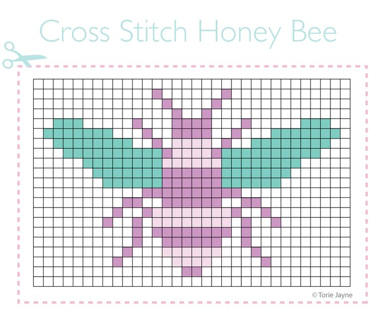 Honey Bee Cross Stitch Pattern
