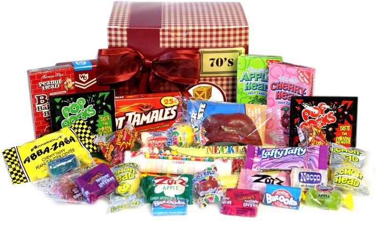 Popular Candy from the 1950's s like Cinnamon Toothpicks, Turkish Taffy, Sugar Daddies, and more from Candy Crate, your Nostalgic Candy and Gift Store.