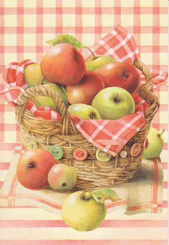 Basket of Apples Marjolein Bastin