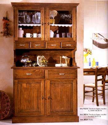 www.mobilificiomaieron.it - 0433775330 - https://www.facebook.com/pages/Arredamenti-Rustici-in-Legno-Maieron/733272606694264 . Euro 1012 + Spese di spedizione. Spedizione in tutta Italia.  Credenza in legno massello adatta ad arredamenti classici, o arredi case in montagna, o arredi classici in stile. La credenza cod 964 è composta da:Credenzina 2 ante 2 cassetti L.120 P.51 H.98 Sopralzo 2 ante 4 cassetti Vetrina L.120 P.42 H.113. Merce nuova e di ottima qualità e completamente in legno…