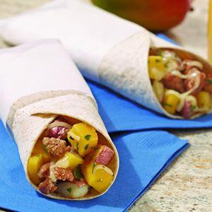 Oven Baked Hot Dog Burrito Wrap