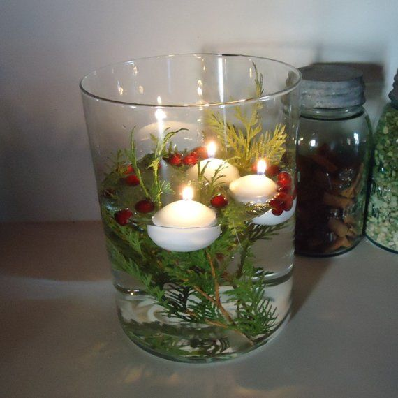 Floating Candles 12 Water Candles Wedding Centerpieces Party Decor White Candle Unscented C Floating Candles White Floating Candles Christmas Centerpieces