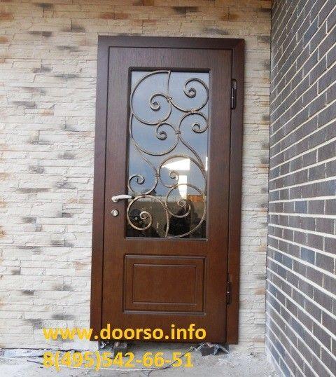 нестандартные металлические двери с окном