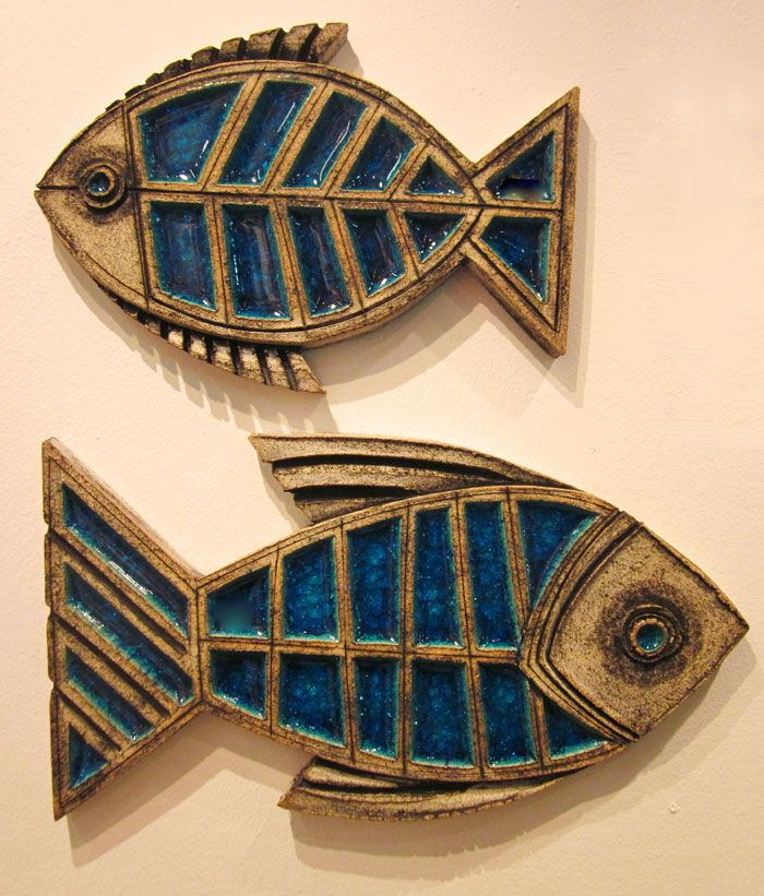 R-17 S +L   Ψάρια Τοίχου    FishWith Glass    30x20 cm   40x20 cm