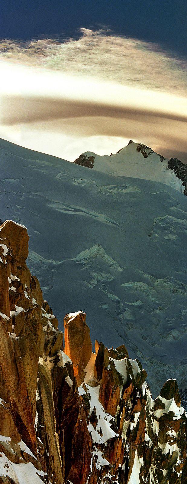 'Peak on the peak' Mont Blanc, Sunset in Winter, France | by Katarina Stefanović