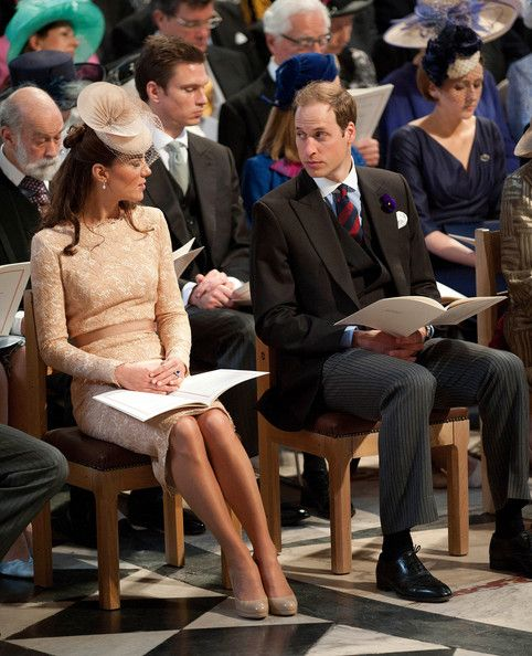 Catherine and William during The Service of Thanksgiving - Diamond Jubilee