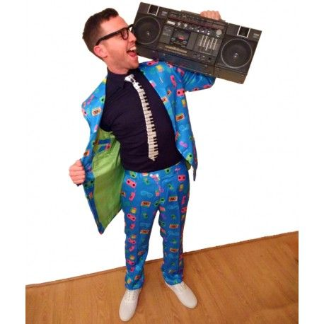80's Suit complete with Piano tie from fruitysuits.com