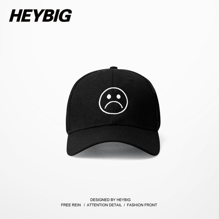 Sad Boys Adjustable Hat crying face Baseball cap Hip hop Heybig Headwear Black Harajuku Skateboard Hats Curve Brimmed golf Caps