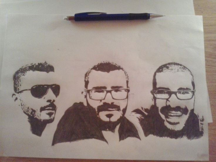 Me, myself and I - Stencil Pencil Drawing