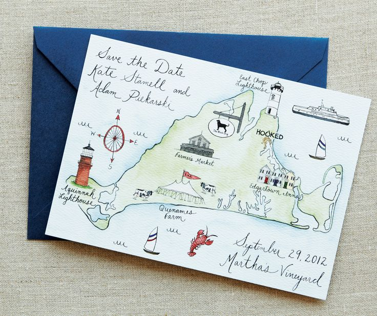 Loving this save the date!- would like to do a hand drawn Orcas Island version