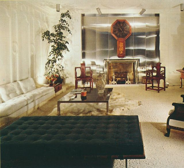 1970 interior from the 5th Biennnale in Paris by Jean Dive of Galerie  Maison et Jardin