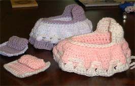 Crochet Pattern Doll Bassinet Purse : Bassinet, Purses and Free crochet on Pinterest