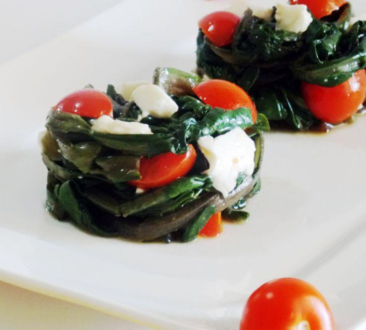 Tortini di Bietola con Mozzarella e Pomodorini