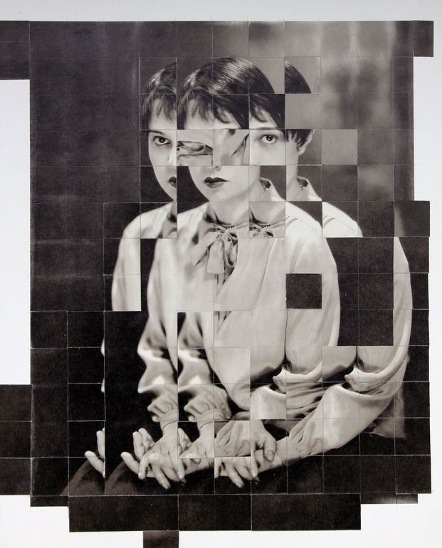"Saatchi Online Artist: claire Pestaille; Paper, 2013, Assemblage / Collage ""The Screenwriter"""