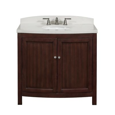 allen + roth Moravia 36-in x 20-in Undermount Bathroom Vanity with Engineered Stone Top