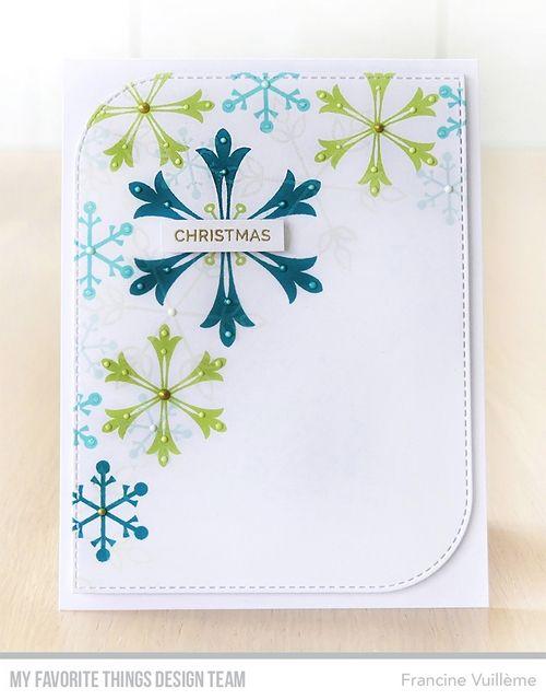 Card by Francine (www.1001cartes.ch) karte, carte, carterie, cardmaking, cardmaker,   crafts, papercrafts, handmade, diy, stamping, #1001cartes,   mftstamps, #mftstamps, die-namics, snowflakes
