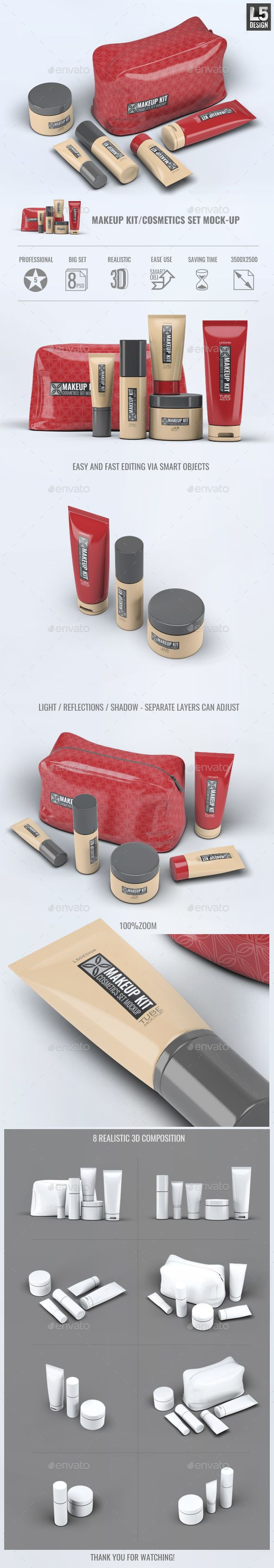 #Cosmetic Set #Mockup pinned by @digitalphaser