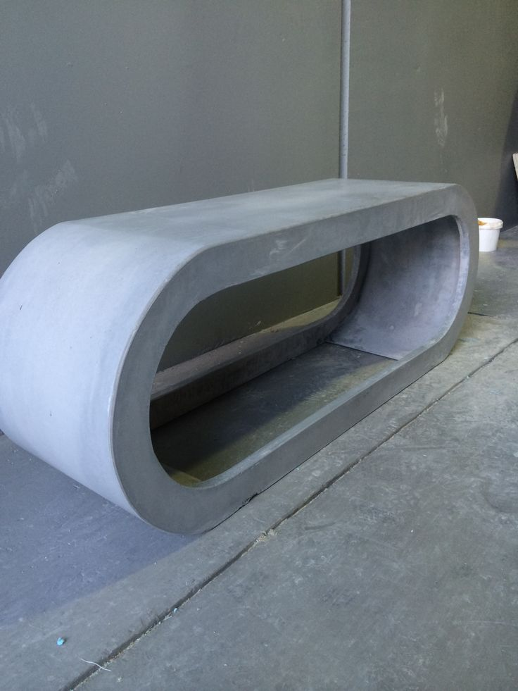 concrete benchseat