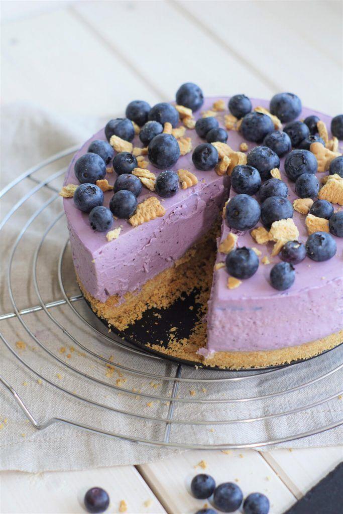 No Bake Blaubeer Cheesecake Kuchen Ohne Backen Kuchen Und Torten Einfache Rezepte Backen