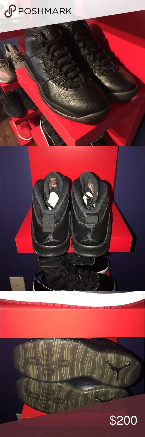 "Air Jordan retro 10 "" ovo black "" I don't sell through Poshmark. I ship& accept payment through PayPal. I DONT SELL FAKES OR REPLICAS. I DONT DO TRADES. If serious interested contact me Shoes Sneakers"